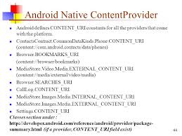 android uri mobile application development selected topics cpit ppt