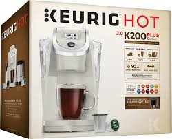 espresso coffee brands keurig k200 single serve k cup pod coffee maker gray 20403 best buy