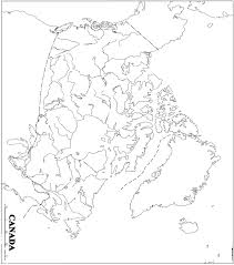 blank political map of canada canada printable map