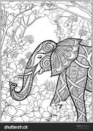 elephant coloring zentangles colouring