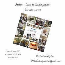 stage de cuisine gratuit cours de cuisine gratuit marché quentin marché