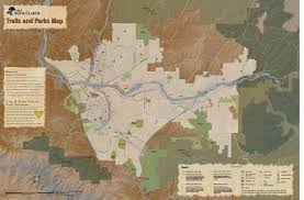 santa clarita map trails paseos maps city of santa clarita ca