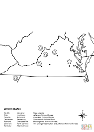 George Washington National Forest Map by Virginia Map Worksheet Coloring Page Free Printable Coloring Pages