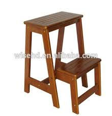 solid wood 2 tier folding step ladders w c 1228 buy step ladders