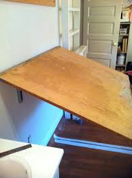 Fold Up Drafting Table Best Wall Mounted Folding Table Ideas On Diy Hinged Gorgeous Desk