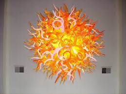 Glass Blown Pendant Lights Chandeliers Design Awesome L Blown Glass Chandelier Pennebaker