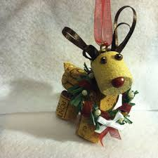 wine cork craft reindeer from krissieskrafts on etsy