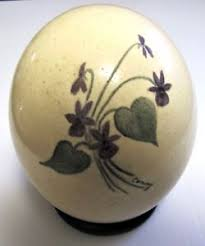 painted ostrich egg beautiful ostrich egg painted signed conny ebay