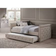 dhp sophia upholstered trundle daybed 16970635 overstock com