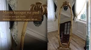 miroir de chambre sur pied d co of miroir baroque sur pied ilex com