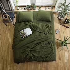 Green Duvet Cover King Green Linen Duvet Cover Custom Size Duvet Cover Green Linen