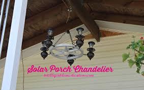 porch makeover project diy solar chandelier intelligent