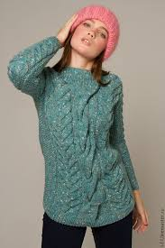 buy knitted sweater for tweed shamrock on livemaster