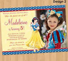 snow white invitation snow white party custom personalized