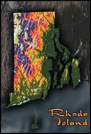 Ri Map Rhode Island Map Vibrant Topography U0026 Physical Features