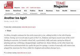 magazine cover predict coming ice age u201d u2026