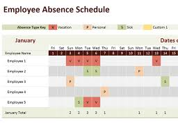Excel Templates For Scheduling Employees by Employee Absence Schedule Office Templates