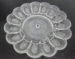antique deviled egg plate vintage egg plate etsy