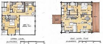 2 Story Log Cabin Floor Plans Cabin And House Plans By Estemerwalt Home Design Garden