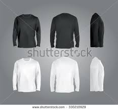 long sleeved tshirt templates collection front stock vector