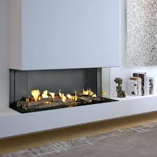 modern gas fireplace pictures stone flare dc double corner outdoor