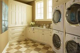 Best Flooring For Laundry Room Best Stackable Washer Dryer Laundry Room Traditional With Beige
