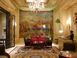 Restaurant Reception Desk by George V Hotel And Jeff Leatham Paris Travel To Eat