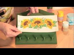 tutorial de decoupage en cristal decalque de flores com relevo cristal youtube tecnicas en video