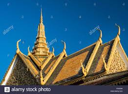 roof decorations royal palace roof ornament decorations phnom penh cambodia stock