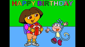 dora and boots coloring page happy birthday youtube