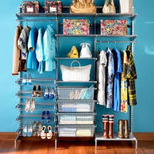 accessories fascinating iron and wooden shelves in tidy closet
