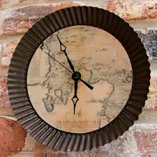 make your own clock with an antique map theme my