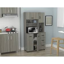 small kitchen cabinets walmart inval laminate kitchen microwave storage cabinet smoke oak