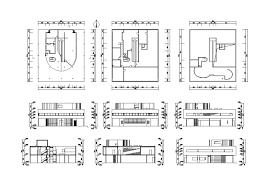 villa savoye cad drawings le corbusier le corbusier