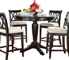 american drew camden dark round counter height table in black