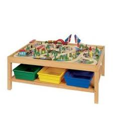 carousel train table set train table with 6 bins underneath for storage in great condition
