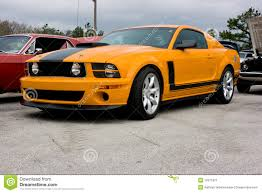 Yellow Mustang With Black Stripes 2009 Ford Mustang Boss 302 Stock Photography Image 12911872