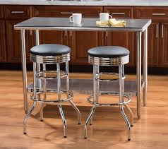 Walmart Bar Stools Set Of 2 Amazon Com Trinity Assembled Chrome Swivel Barstool 29 Inch