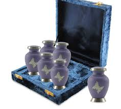 keepsake urns butterfly brass keepsake cremation urns 6 pack
