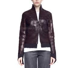 leather bike jackets for sale women online croc print leather jacket