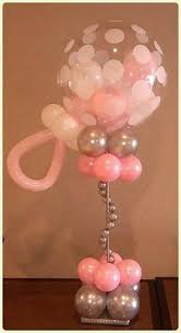baby shower balloons gold and pink baby shower ballon center pieces search