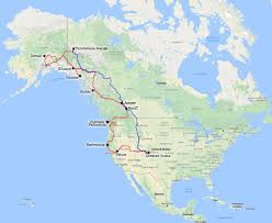 Map Of Canada And Alaska by 90 Days Of Camping From Colorado To Alaska And Back June Sept