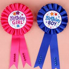baby shower ribbons favors 1pc birthday girl boy award ribbon rosette badge pin baby
