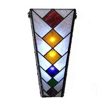 Stained Glass Wall Sconce Wall Sconce Ideas Wonderful Vertical Allignment Stained
