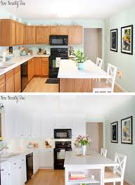 Kitchen Cabinet Makeover Before And After Home Improvement - Oak kitchen cabinet makeover