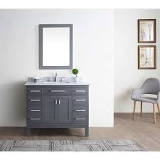 Bathroom Vanities 42 Danny Maple Grey 42 Inch Single Bathroom Vanity Set Free
