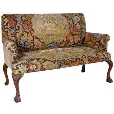 Queen Anne Style by Antique English Queen Anne Style Walnut Tapestry Settee Eron