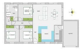 plan maison 150m2 4 chambres décoration plan plain pied 5 chambres 150m2 97 tours 20350601