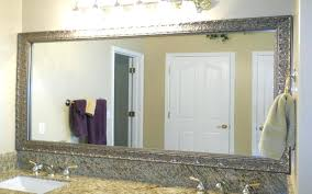 framed bathroom mirrors brushed nickel commercial bathroom mirror mirror design