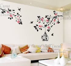 branch wall decals vinyl tree wall decal sticker birds by cuma